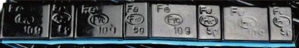 画像1: ブラックバランスウェイト(5g/10g各4個入/合計60g) (1)
