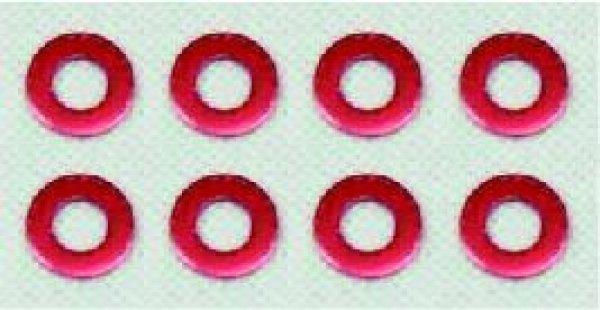 画像1: アルミカラー(レッド)8枚入り (1)